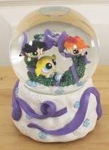 Original 2000 Powerpuff Girls Christmas Deck the Halls Musical Snow Globe Enesco - $79.95