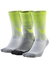 Nike Women/Youth 3 Pair Pack HBR Performance Crew Socks Small SX5550-915 - $24.99