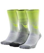 Nike Women/Youth 3 Pair Pack HBR Performance Crew Socks Small SX5550-915 - $24.99