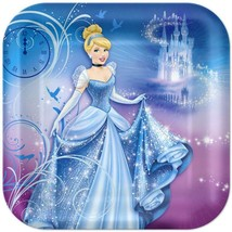 Cinderella Lunch Plates Birthday Party Supplies 8 Per Package Amscan New - $12.82