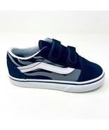 Vans Old Skool V (Suede Flame) Black True White Baby Toddler Shoes - $39.95