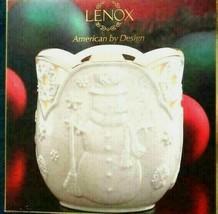 Lenox Porcelain Merry Lights Snowman Votive & Tealight Candle American B... - $24.47