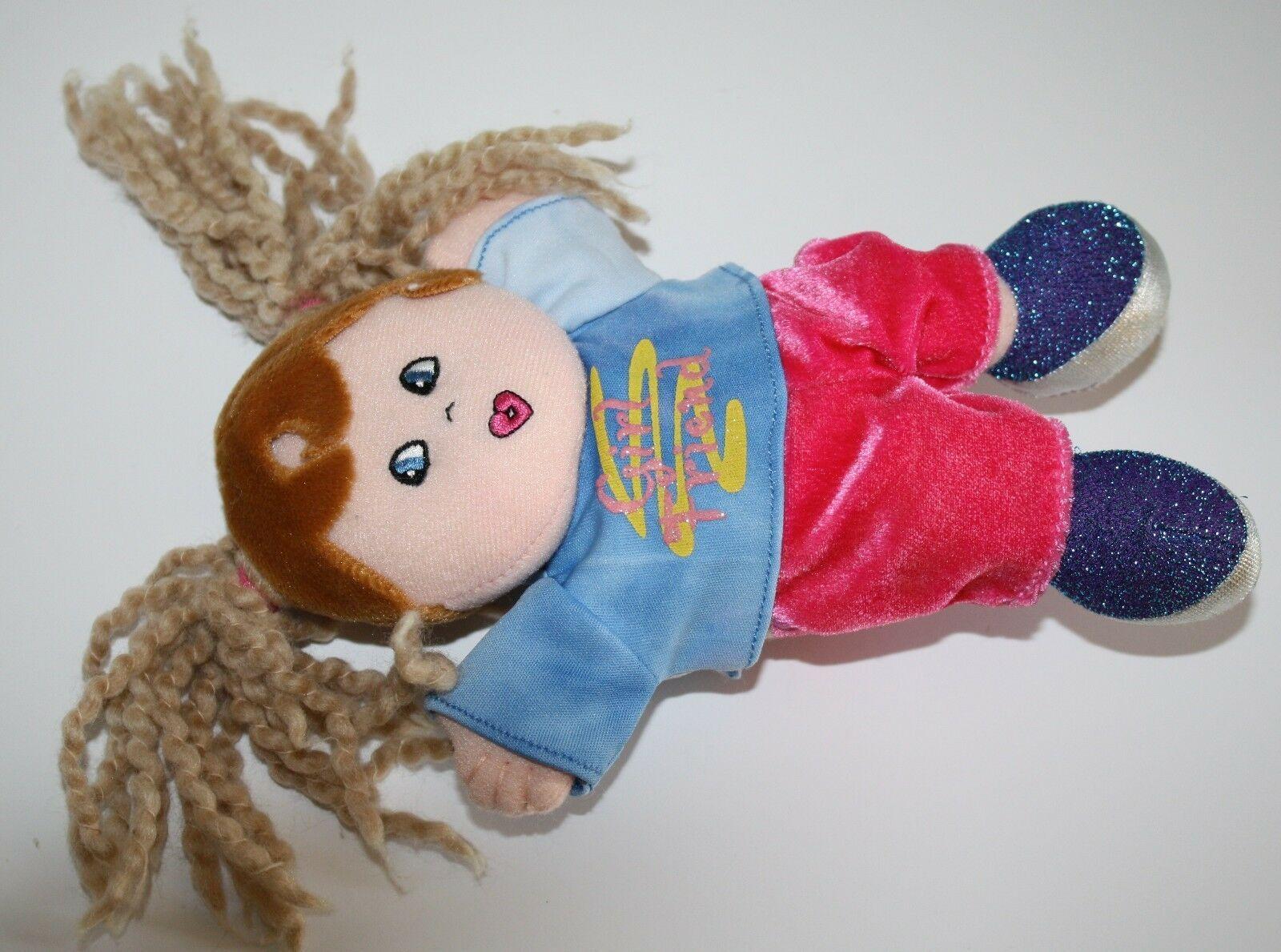 "Dan Dee Plush DOLL 9"" Girl Friend Blonde Yarn Pigtails Brown Hair Stuffed Soft image 3"
