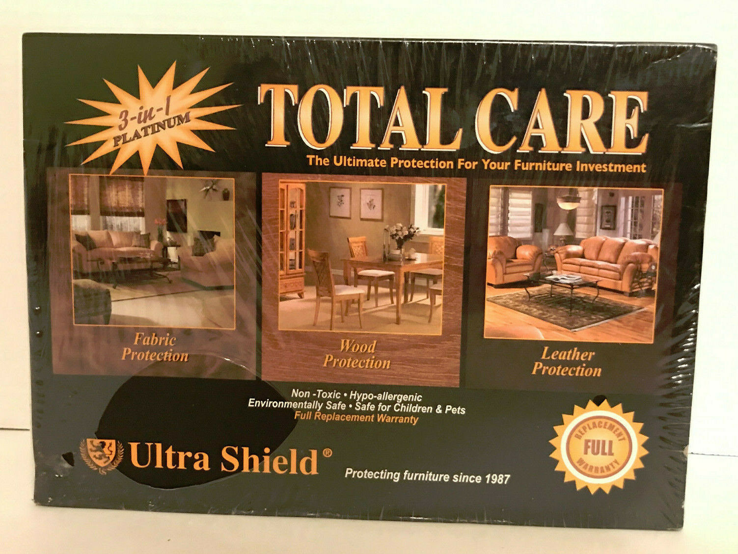 Primary image for Total Care Ultra Shield 3 in 1 Platinum Protection New Fabric Wood and Leather