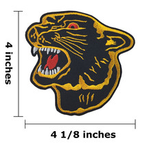"""4"""" Black Panther Head Logo Embroidered Iron On Patch - $1.80"""