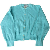 LILLY PULITZER Blue Cotton Knit Carrie Cardigan Sweater Girls 7 - $29.99