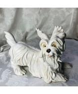 Vintage Ceramic White Terrier Dog Figurine Westie Skye West Highland 11 ... - $51.48