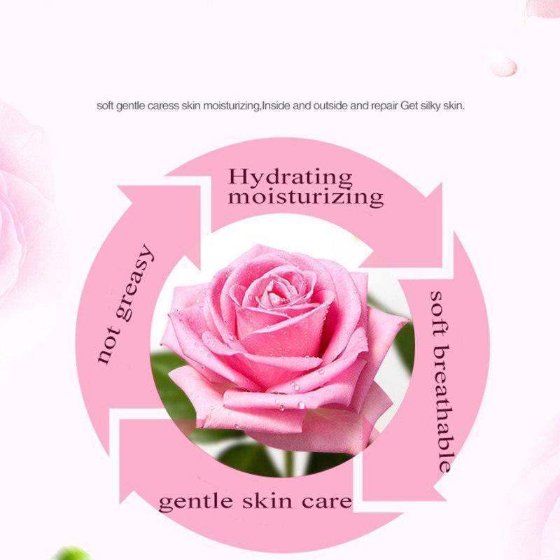 Rose Petals Essence Water Face Toner Shrink Pores Anti-Aging Whitening Skin Care