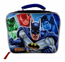 NEW Justice League Batman Dc Comics Boys Insulated Lunch Tote Box Kit image 1
