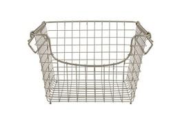 Spectrum Diversified Scoop Stacking Storage Basket, (Medium|Satin Nickel) - $34.22