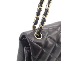 NEW AUTHENTIC CHANEL BLACK QUILTED LAMBSKIN JUMBO CLASSIC DOUBLE FLAP BAG GHW image 9