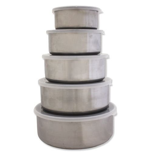 5pc Stainless Steel Serving/Storage Bowl Set with Lids