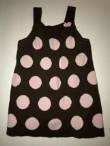 Gymboree Brown And Pink Polkadot Dress. Toddler Girls Size 12-18 Months - $3.60