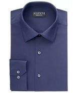 NWT  Alfani Men's Size 18.5 34/35 Solid Navy Blue Dress Shirt - $17.77