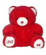 Love Me Feet Paws Red Teddy Bear Plush Lovey Stuffed Animal 8 inch Sits - $24.72