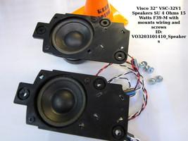 "Visco 32"" VSC-32V1 Speakers SU 4 Ohms 15 Watts F39-M with mounts wiring screws - $11.30"