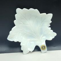 Westmoreland Milk Glass glassware England nut candy dish autumn leaf ashtray 2 - $25.74
