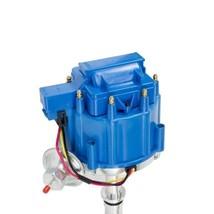 SB Small Block Buick HEI Distributor BLUE Cap 65K VOLT COIL 215 340 350 image 2
