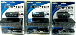 Lot of 3 Custom Accessories 25210 OXT 12V 4 Splitter Socket Adapter NEW - $19.33