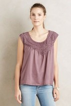 New $78 Anthropologie Bibbed Verona Tee by Meadow Rue X-SMALL Mauve - $25.74