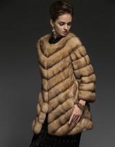 V-shape  Sable Fur  Coat  Zobel Pelzmantel Zibeline Sobol - $5,445.00