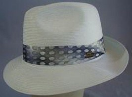 Dobbs Venetion Milan Straw Fedora - White or Brown - Size 71/8 - Made in... - $70.00