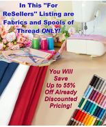 Below Wholesale Pricing, Priority Box of Brand New Old Stock Fabrics, Th... - $68.77