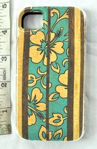 IPHONE 4 4S CUSTODIA Hawaiana Fiori Surfboard Case-Mate INTERROTTO Tiki - $28.85