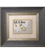 Let It Bee chart w/embellishment cross stitch chart The Bee Cottage  - $19.80