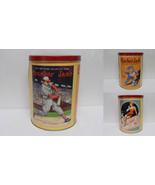 ORIGINAL Vintage 1990s Cracker Jack Baseball Tin Canister  - $18.49