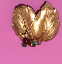 Vintage Coro Rhinestone Bumble ? Bee  Pin Brooch READ AD - $37.13