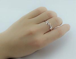 USA Christmas Antler Wedding Ring Open Jewelry Women Fashion Simple Silv... - $189,89 MXN