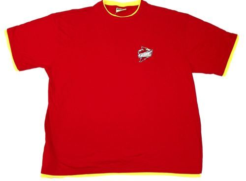 2XL Iowa State Cyclones Shirt Men's Russell Pro Cotton Layered-Look Tee T-Shirt