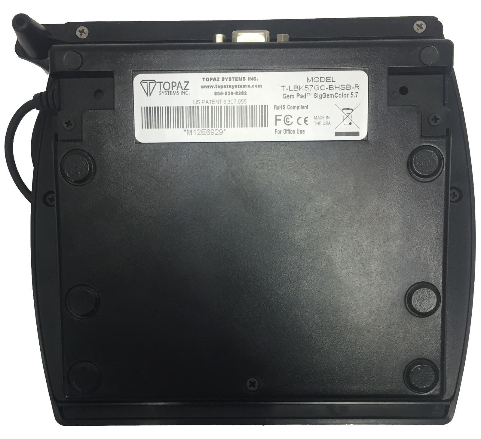 Topaz SigGemColor T-LBK57GC-BHSB-R Electronic Signature Pad Bin:7