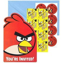 Angry Birds Movie Save The Date Invitations 8 Count Birthday Party Supplies New - $3.91