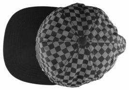 Neff Mens Black/Grey Bogie Checker Adjustable Snapback Hat Cap One Size NEW image 5