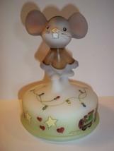 Fenton Glass Christmas Lights Mouse on Font #2/10 Ltd Ed Gift Shop Exclusive - $183.82