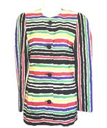 Givenchy Multicolor Watercolor Striped Jacket Size: 8 - $75.00
