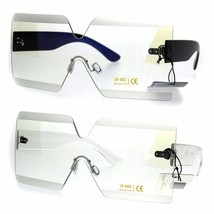 Futuristic Squared Rectangular Robotic Clear Lens Eye Glasses - $16.94 CAD