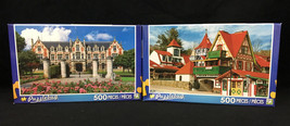 TWO Jigsaw Puzzles Puzzlebug 500 Pc Each Helen Georgia Wine Cellar Chate... - $12.82