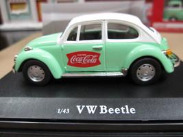 Coca-Cola 1966 Volkswagen Beetle Green  1:43 Scale #440031 - $24.50