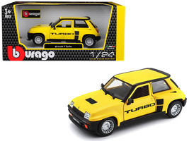 Renault 5 Turbo Yellow with Black Accents 1/24 Diecast Model Car by Bburago - $33.64