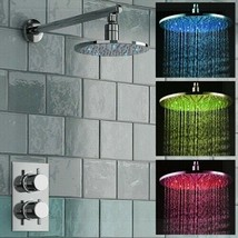 Fontana Milan Round Thermostatic Mixer Shower Set With LED FS1261MS - 8 ... - $684.69