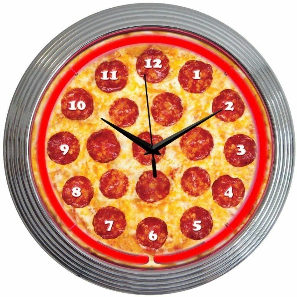 "Primary image for Pizza Restaurant Neon Clock 15""x15"""