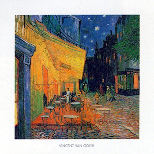 Pavement Cafe At Night by Vincent Van Gogh 20x20 Museum Art Print Poster