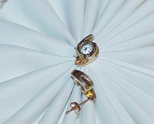 14K 2.00ct Mystic Topaz Earrings Cushion Top Stud Post Yellow Gold Pinwheel