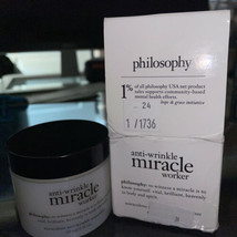 Philosophy Anti Wrinkle Miracle Worker Moisturizer 2 oz / 60 ml NIB - $49.49