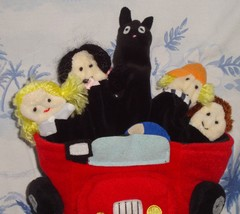IKEA Tita Glove Finger Puppet Family In Car With Cat - $4.90