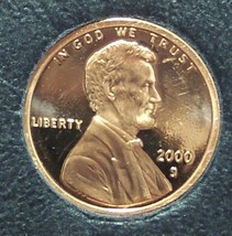 2000-S Proof Lincoln Memorial Penny #01136 - $0.99