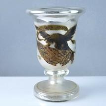 Rare 1876 Centennial Exposition Philadelphia Mercury Glass Goblet with E... - $247.78